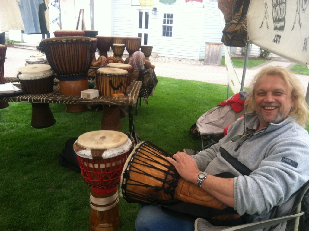Drum circle at Historic Smithville